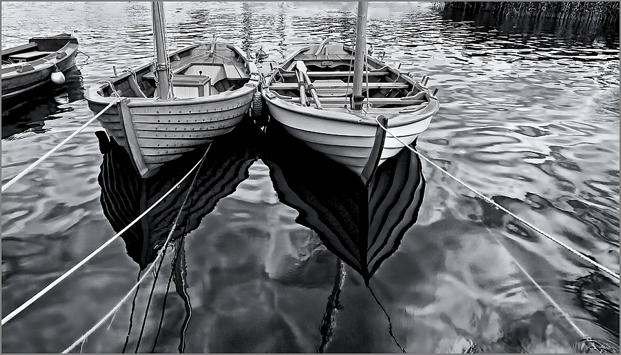 Woode Boats in B&W | NIKON 12-24MM F/4G ED-IF AF-S DX <br> Click image for more details, Click <b>X</b> on top right of image to close